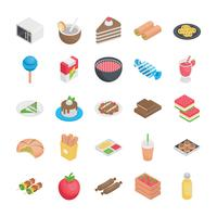 Bestes Essen flache Symbole