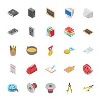 Iconos de educación y otros objetos