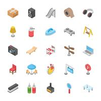 Set Of Household Objects Icons vector