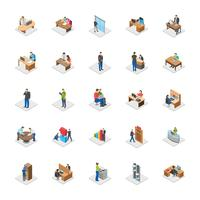 Office People Flat Vector Icons