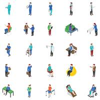 Iconos de Vector de personas profesionales