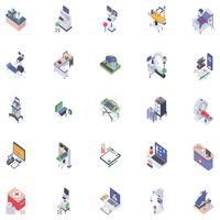 Robotic Isometric Icons
