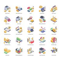 Paquete de iconos de entrega logística