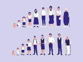 gruppo di membri della famiglia