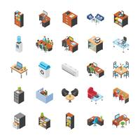 Office Workplace Icon Set