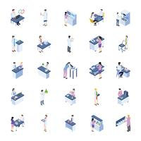 Scientific Lab Isometric Icons Pack