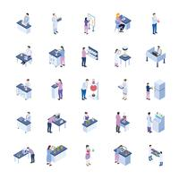 Scientific Laboratory Isometric Icons Pack