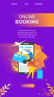 Online Booking Service Flat Landing Page