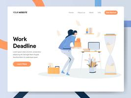 Landing page template of Businesswoman Working on Deadline