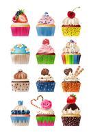 Doces de ícones de cupcake