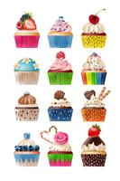 Cupcake icons sweets