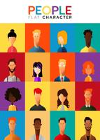 Set of business people characters