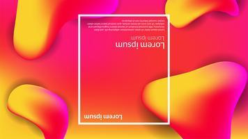 Abstract gradiënt modern vloeibaar oranjerood als achtergrond