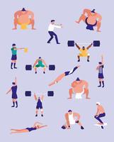 men practicing sports