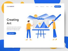 Landing page template of Creating Fine Art Illustration Concept