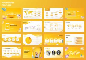 Power Point Template Set vector