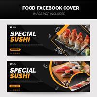 Banner de sushi vector