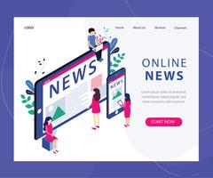 Online News Web Page vector