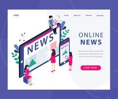 Page Web d'actualités en ligne