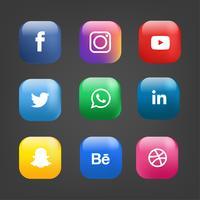 sociala medier ikoner pack