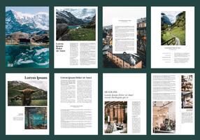 Brochura de viagens revista modelo Vector