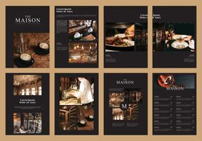 Brochure culinaire Magazine Template Vector