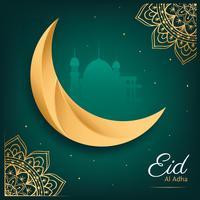 Conception de vecteur de carte de voeux Eid Al Adha