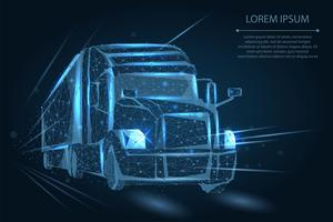 Polygonal Semi Truck vector