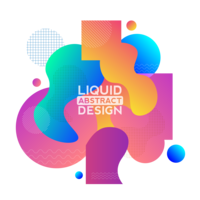 Liquid shape abstarct design