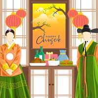 Happy Korean Chuseok Vector