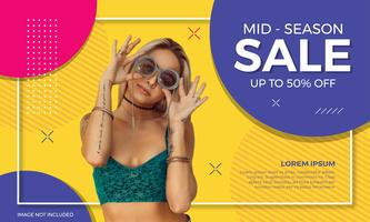Colorful Sale Banner Fashion