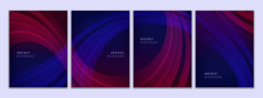 Abstract Curve background set vector
