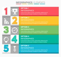 INFOGRAPHICS One to Five vector