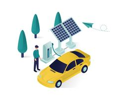 solar panel isometric  illustration