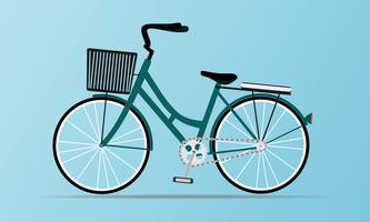 Vintage style bicycle with basket vector