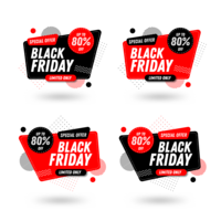 Set di banner di vendita del Black Friday