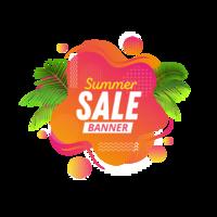 Abstrakt flytande banner för sommarförsäljning