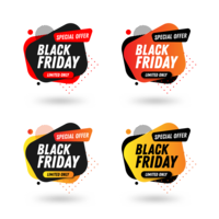 Modèle de conception du pack bannière Black Friday Sales