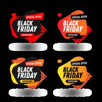 Modello di progettazione del pacchetto dell'insegna di vendite di Black Friday