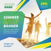 Diseño de banner de venta de verano
