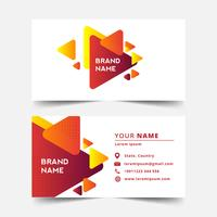 Color Geometric Business card template