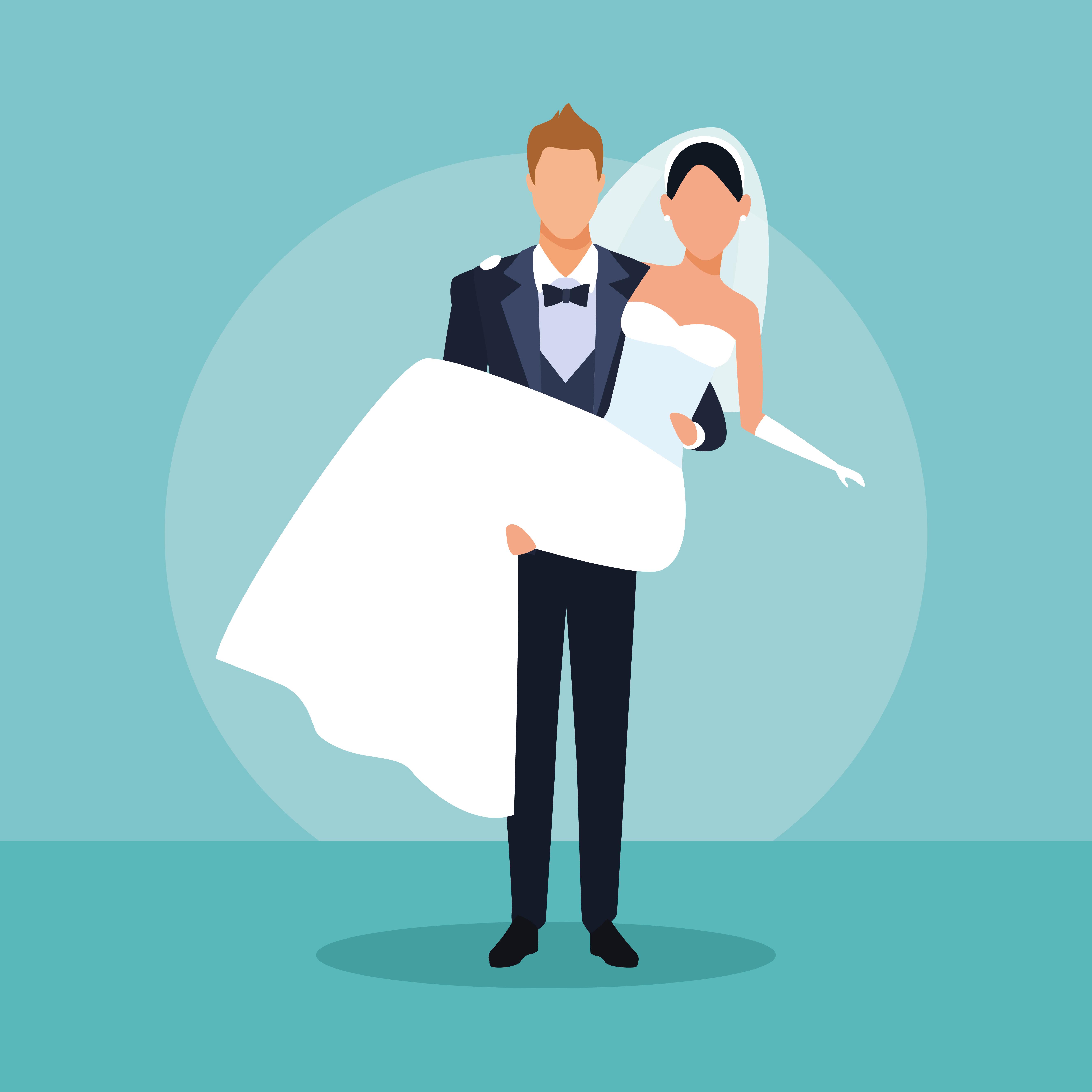 Wedding Couple Cartoon Download Free Vectors Clipart Graphics Vector Art