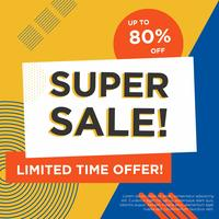 Abstract Super Sale