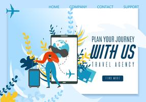 Travel Agency Landing Page Offering Best Journey vector