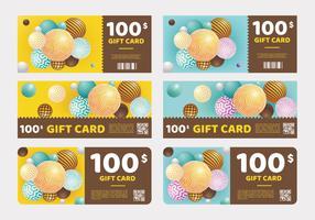 Gift Card sjabloonontwerp Vector