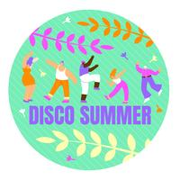 Poster with Inscription Disco Summer