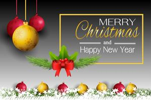 Happy New Year and christmas card vector