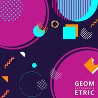 Memphis-Hippie-Hintergrund der geometrischen Formen