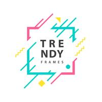 Frames with geometric lines template