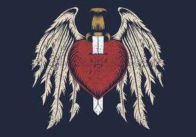 trasigt hjärta med vingar